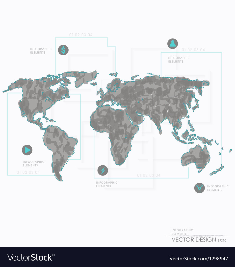 Set elements of infographics world map and informa set elements of infographics world map and informa vector image gumiabroncs Gallery