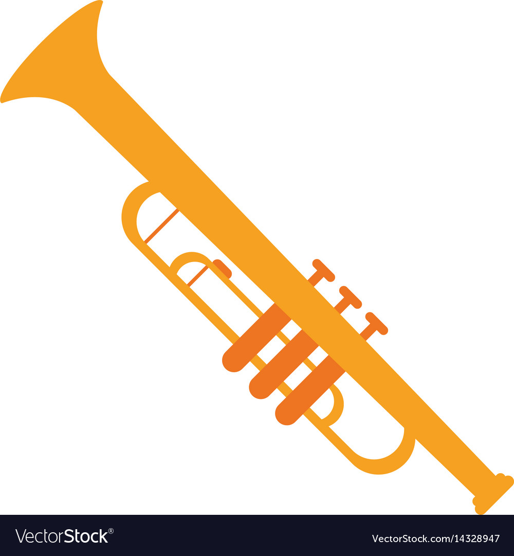 Trumpet musician instrument icon