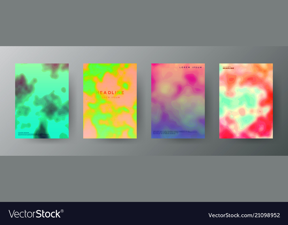 Abstract creative cover concepts collection
