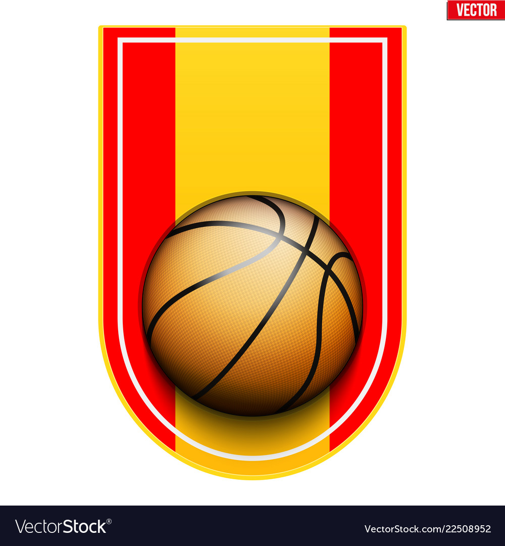 Basketball badge and label