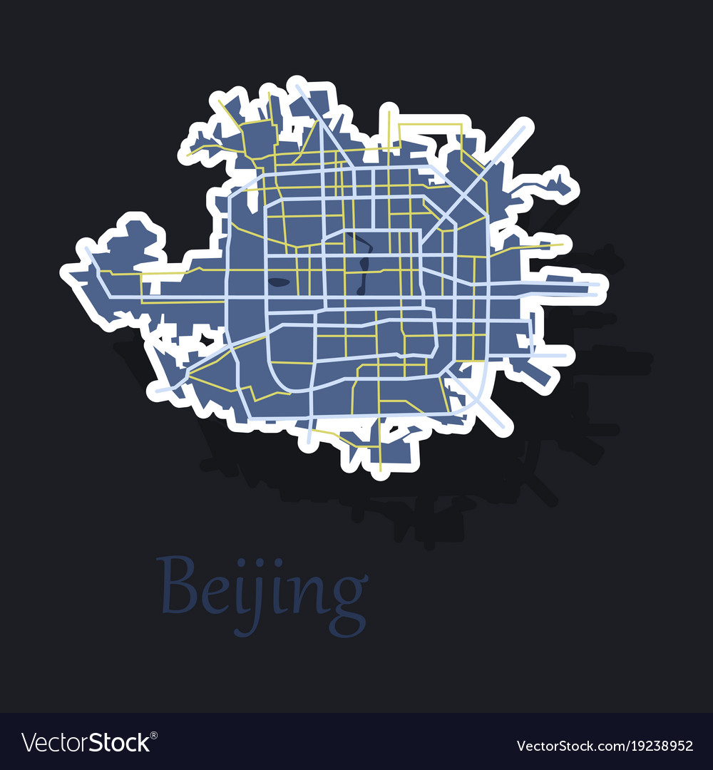 Beijing city map sticker royalty free vector image beijing city map sticker vector image gumiabroncs Images