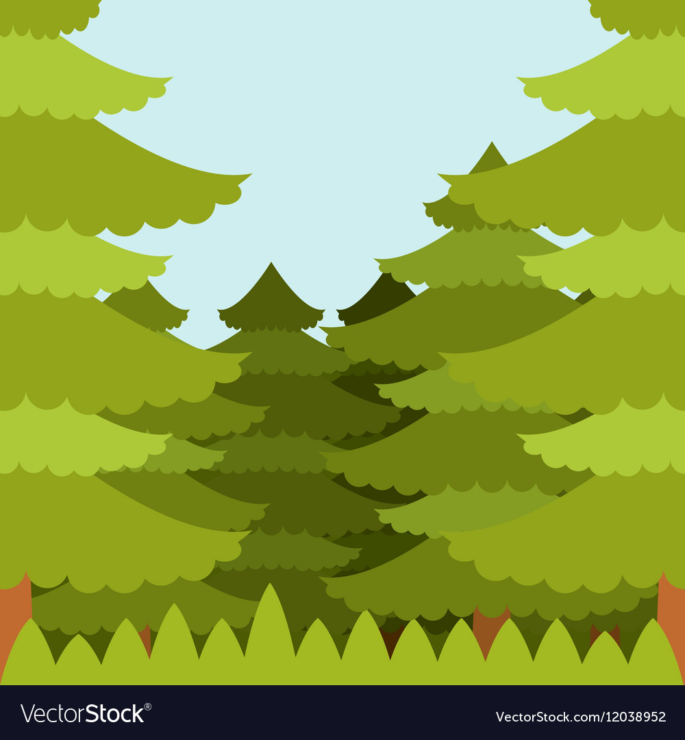 Forest flat Background