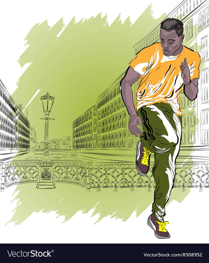 Man Breakdancing on the Street