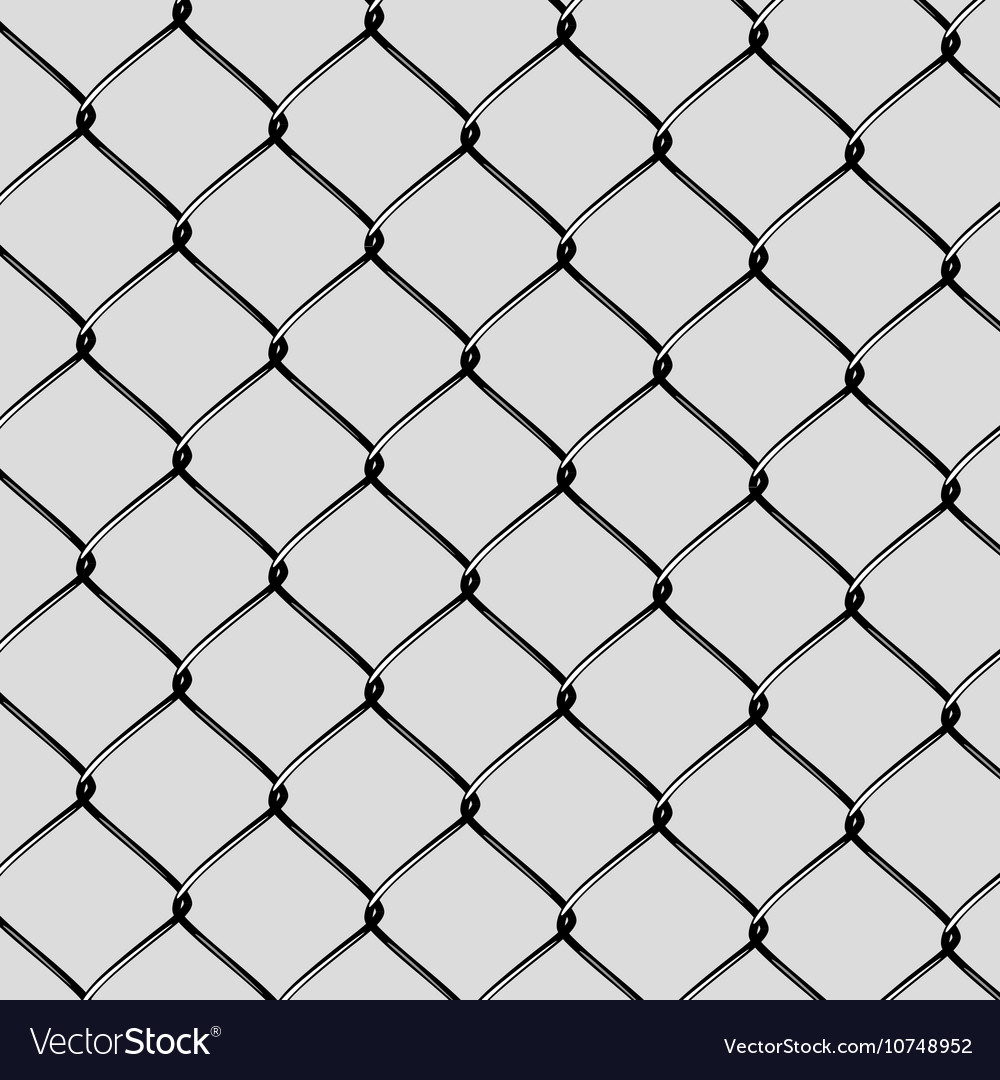 Realistic Steel Netting Cut Royalty Free Vector Image