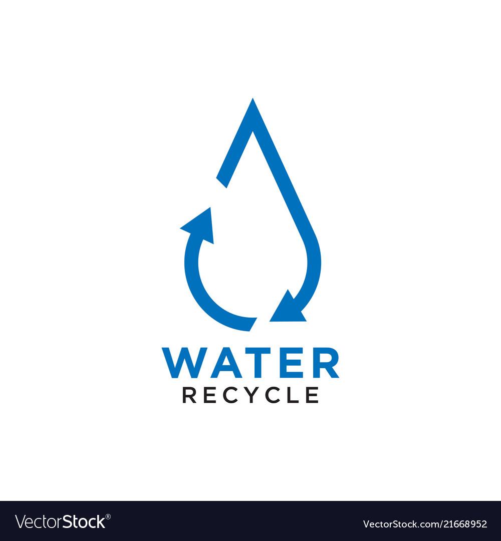 Recycle water drop logo design template