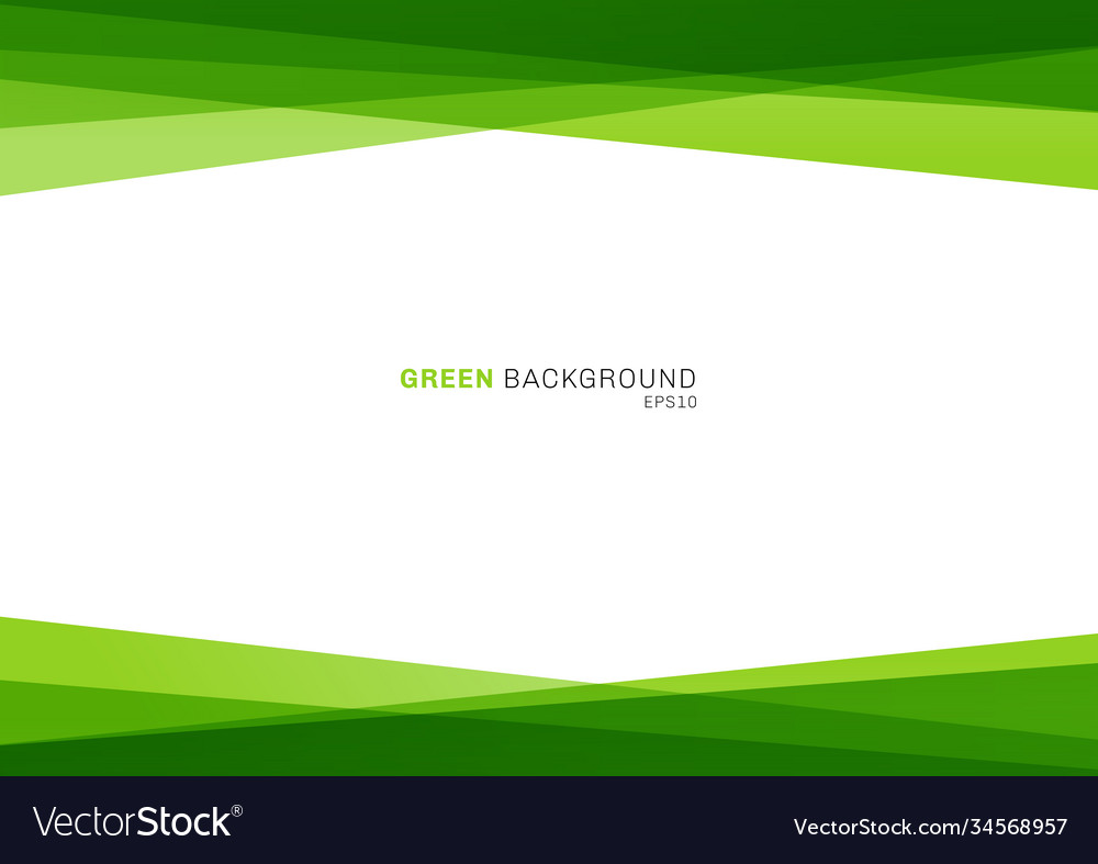 Abstract geometric green color shiny overlapping