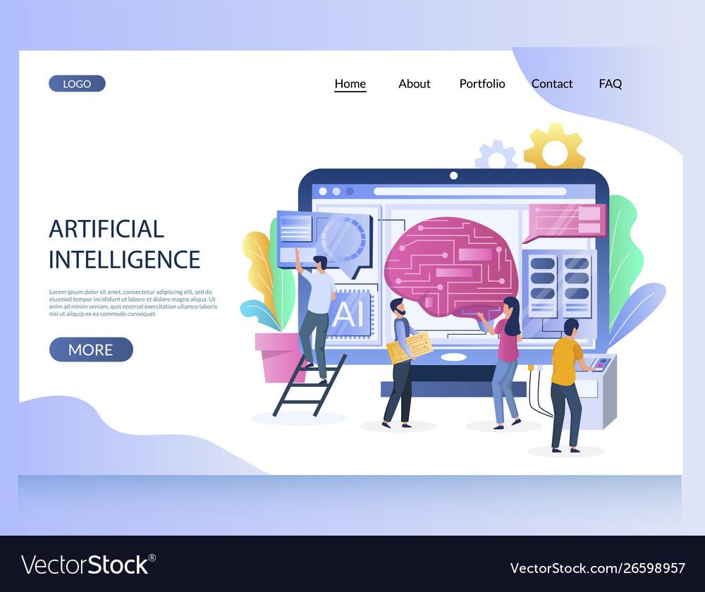 Artificial intelligence website landing