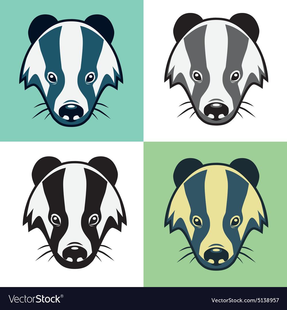 Badger Mascot Head Emblem