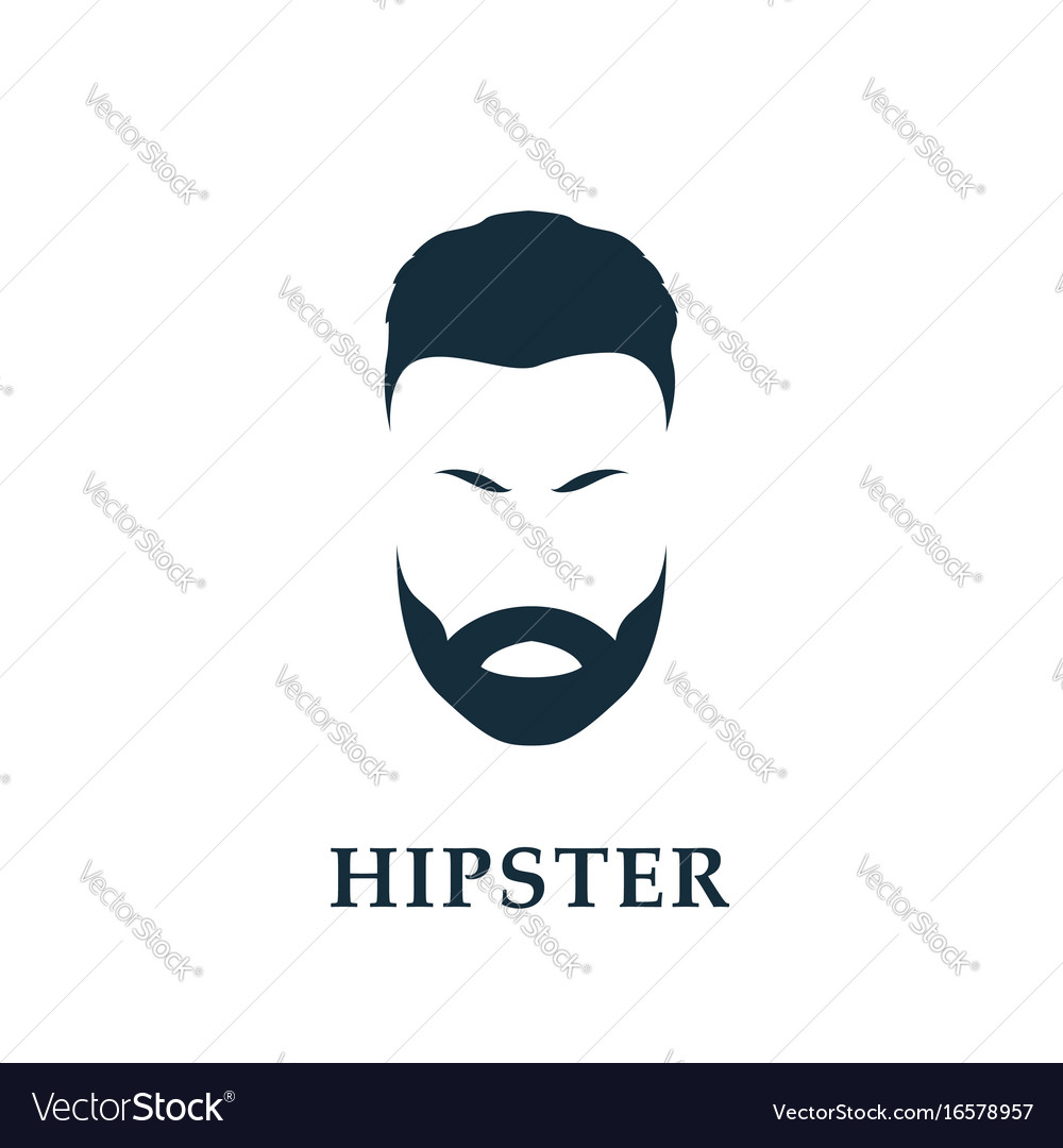 Hipster portrait with isolated