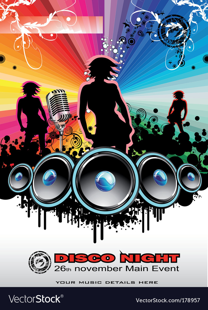 Music Event Background Royalty Free Vector Image