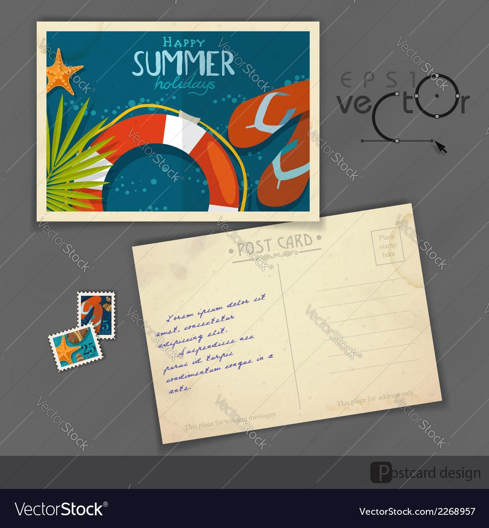 Old Postcard Design Template