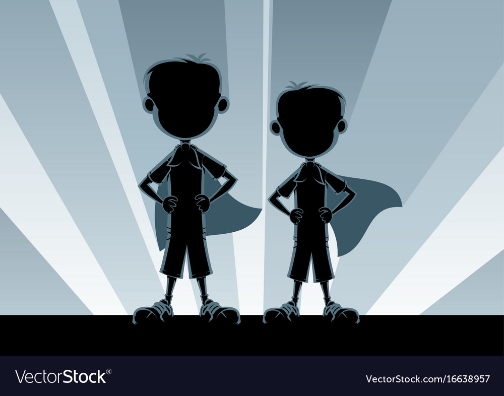 Super boys silhouettes