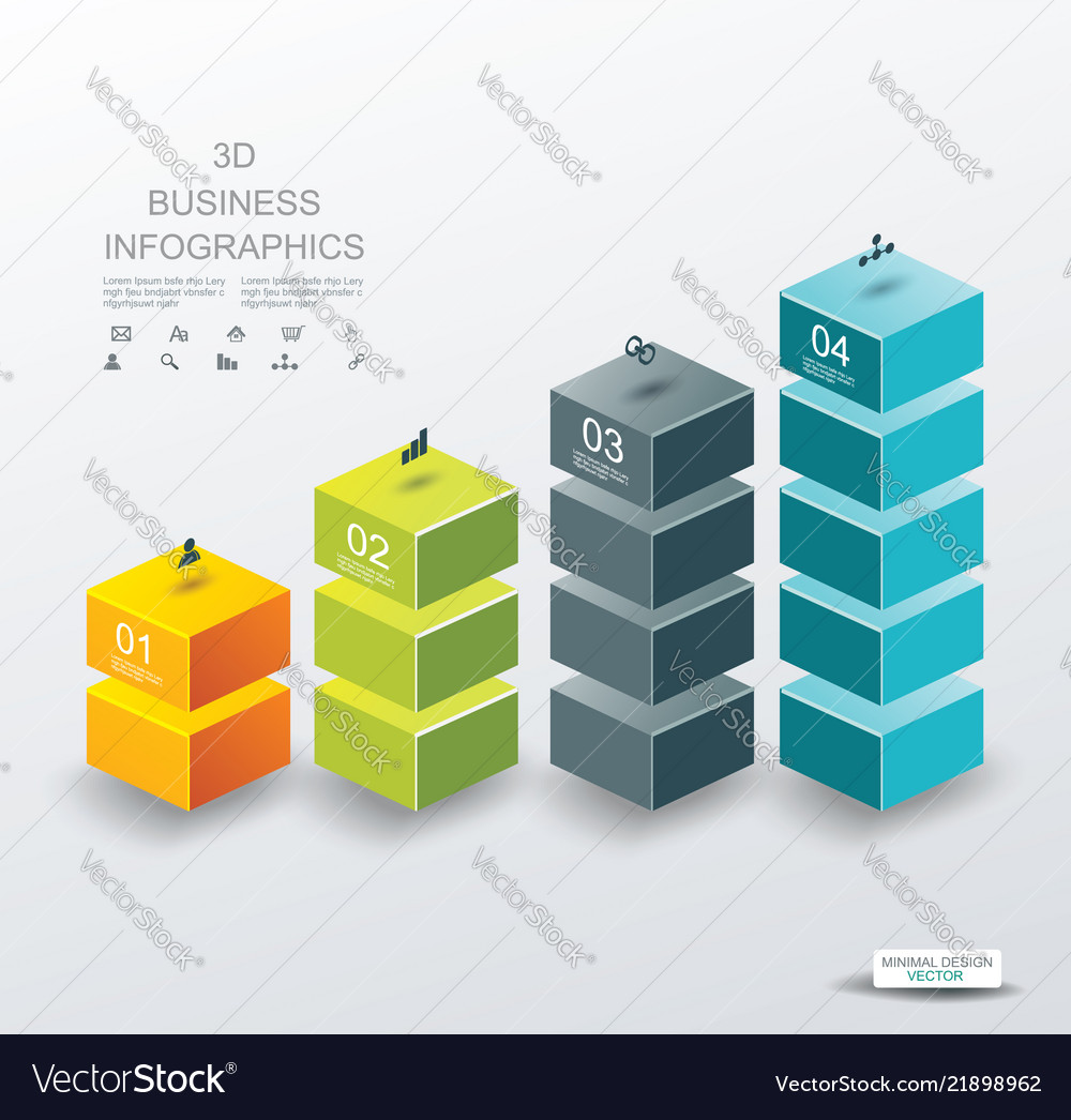 3d design of business chart for documents and
