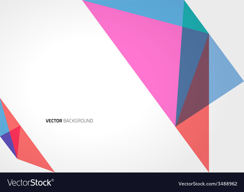 Abstract Triangle Geometric Brochure Template