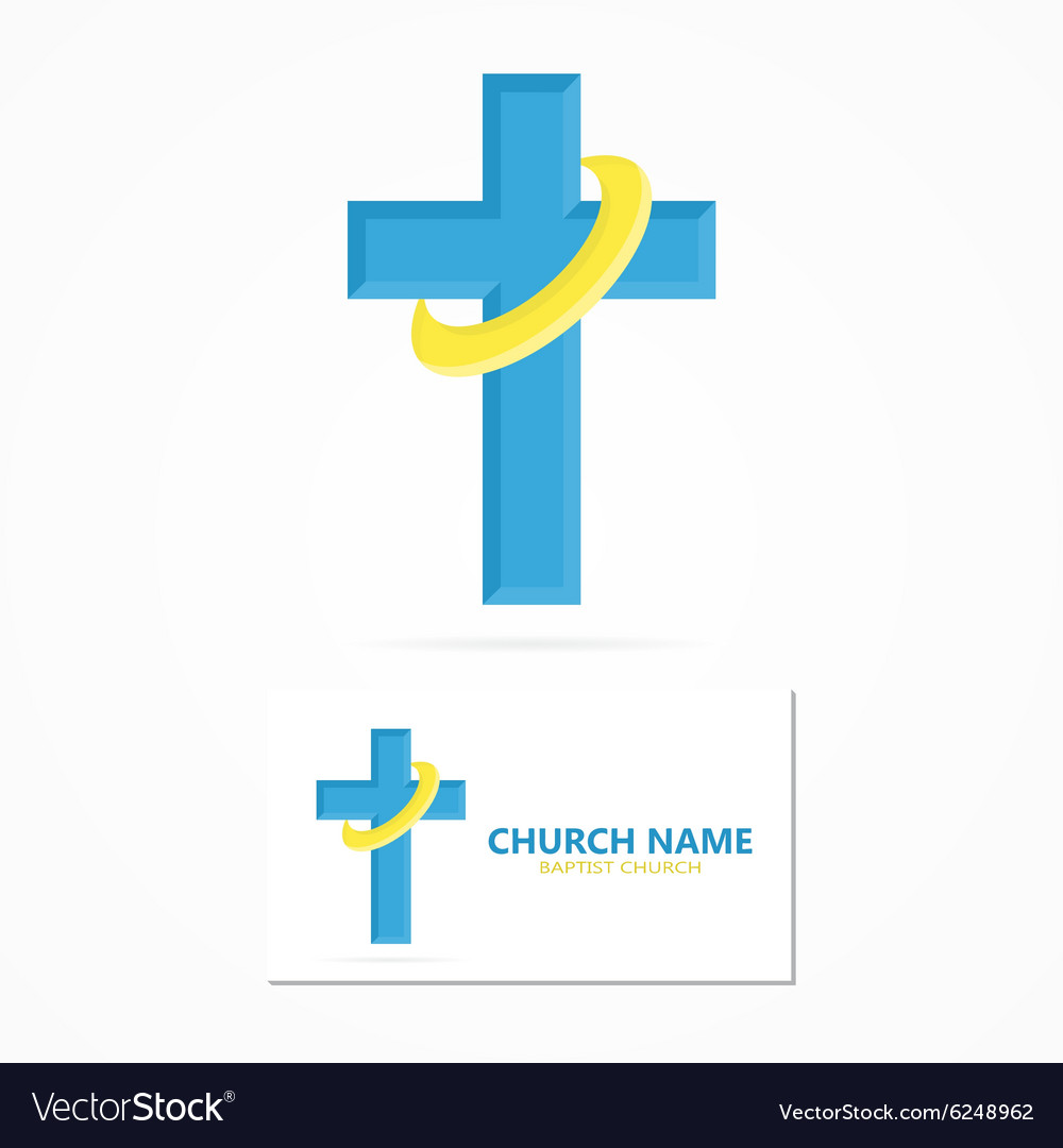 Christian church logo design vector image