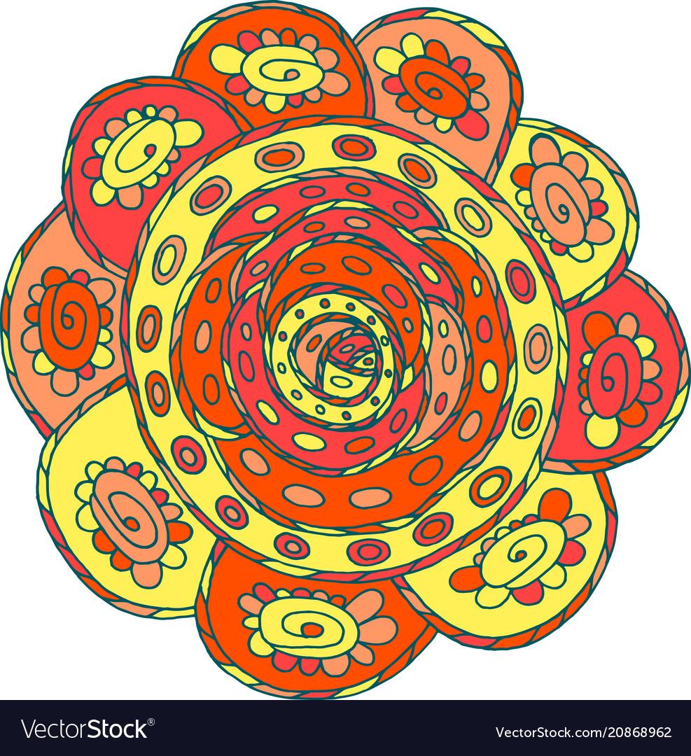 Doodle mandala art cartoon fantasy artwork