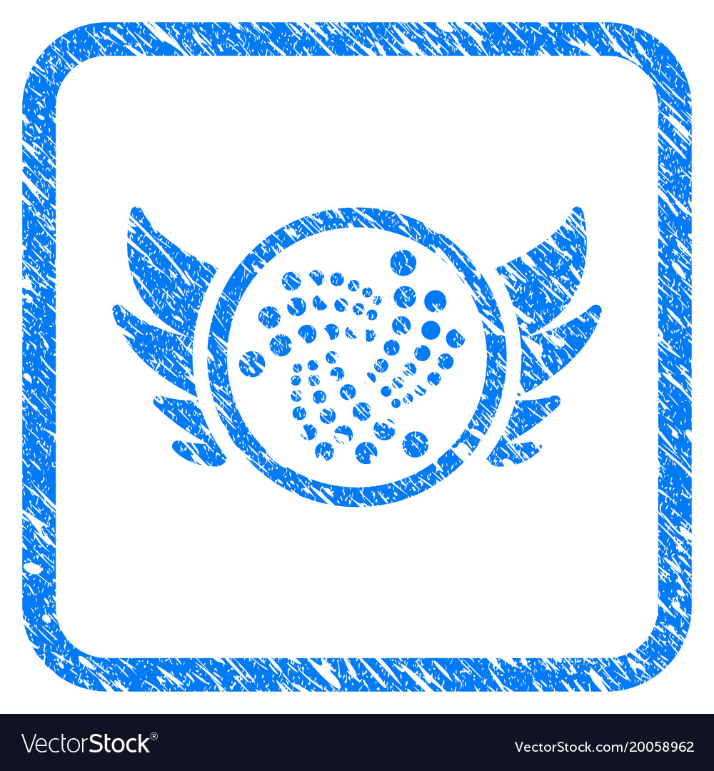 Iota Angel Investment Framed Stamp Vector Image