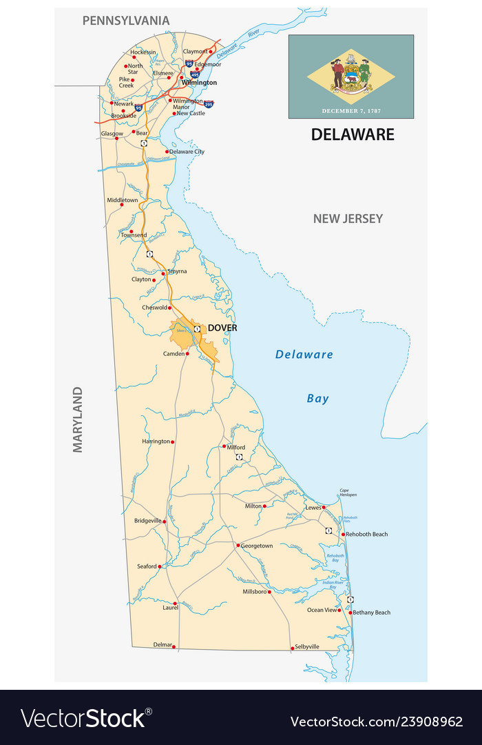 Road map of the us state delaware with flag Delaware On Us Map on state of delaware map, delaware bay map, dallas texas united states map, delaware river, delaware state line map, delaware on a world map, delaware and maryland state maps, delaware agricultural map, delaware state location, delaware school district map, delaware airports map, delaware street map, delaware on map show, delaware road map, delaware colony trade, about delaware map, delaware mine michigan, usa map, delaware in the us, delaware's map,