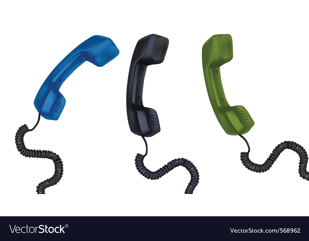 Set with telephone receivers vector image