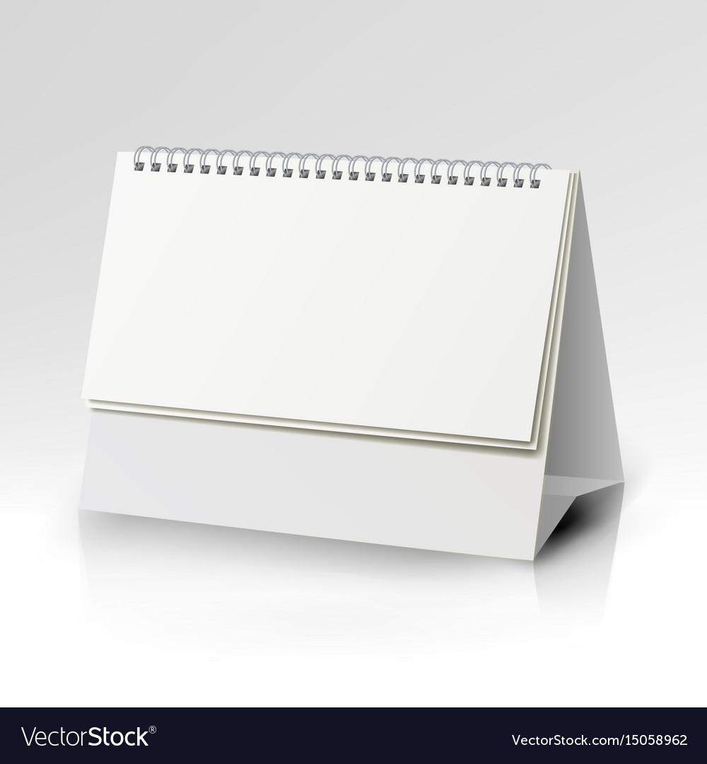 Spiral Calendar Template Vertical Table Vector Image