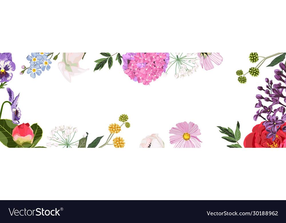 Spring sale background banner frame