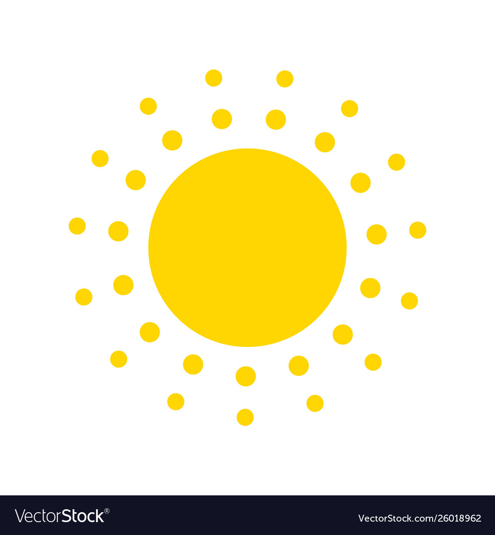 Summer symbol sun modern icon dots and points