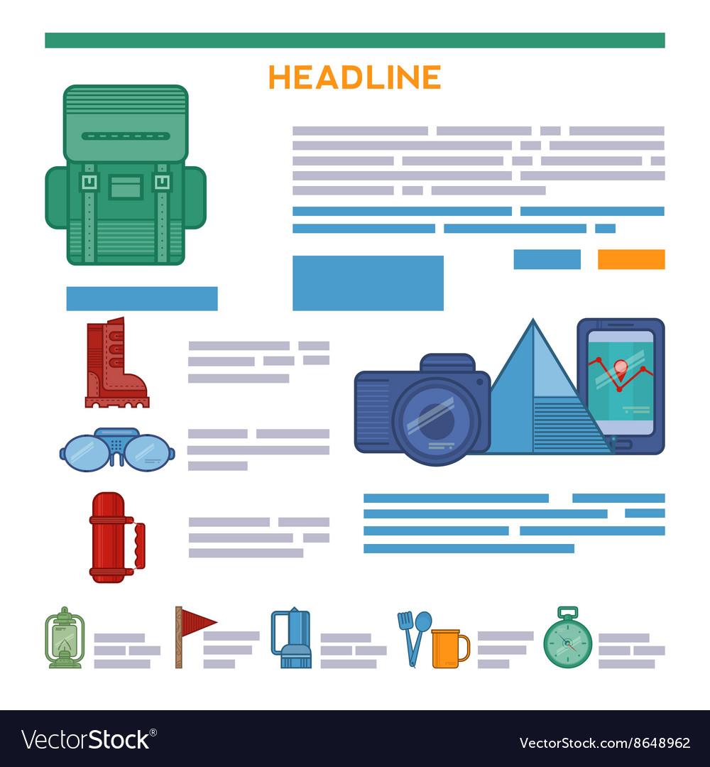 Tourism brochure design elements