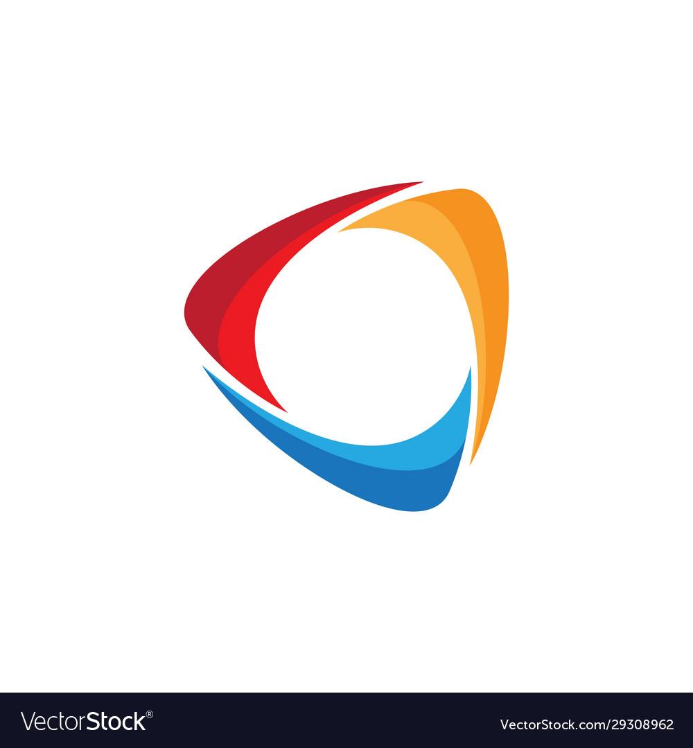 Triangle icon design