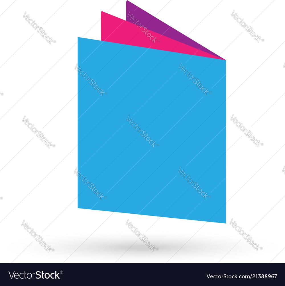 Book folder icon logo isolated