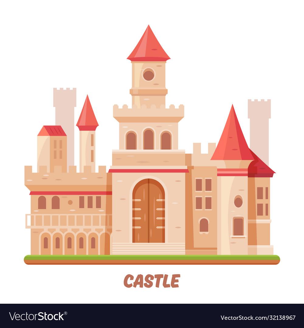 Castle fairy palace medieval fantasy kingdom fort