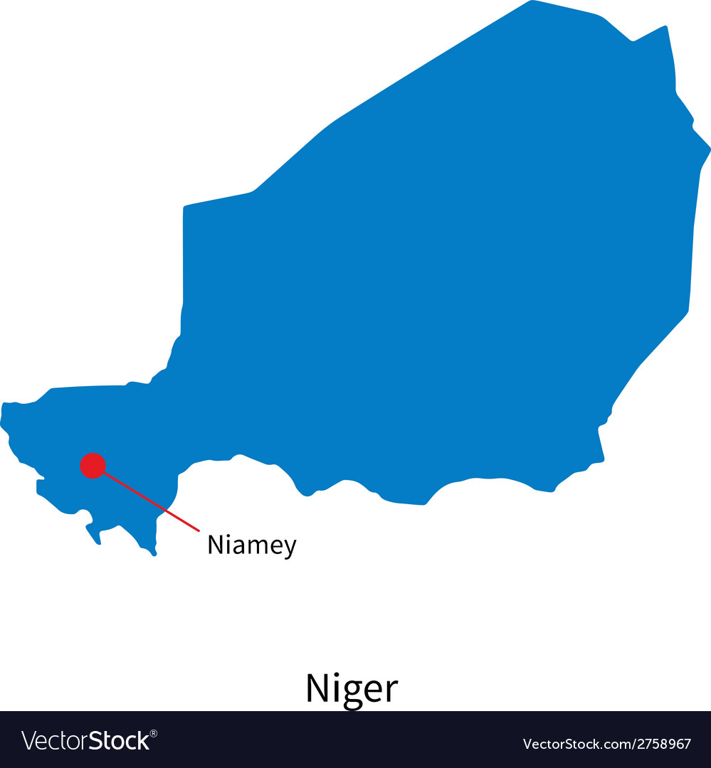 Detailed map of Niger and capital city Niamey