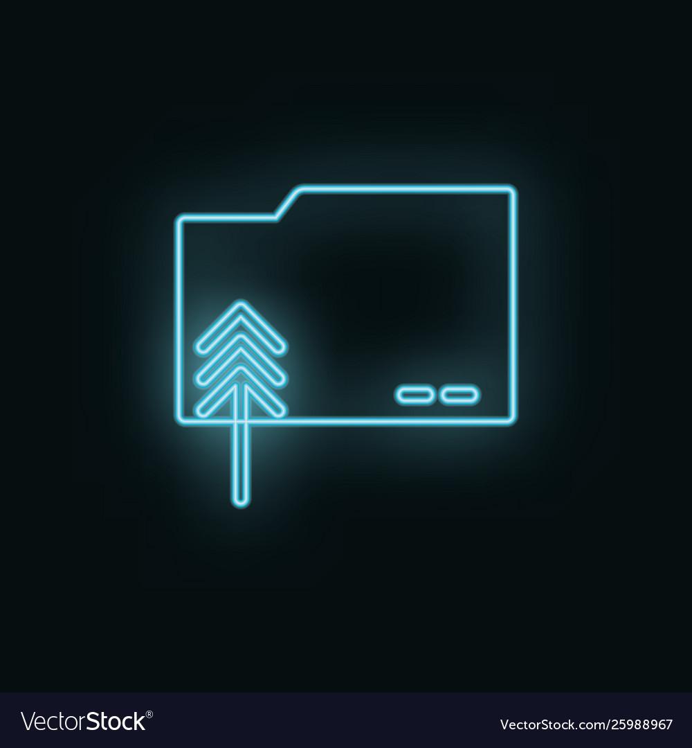 Folder neon icon web development icon element of