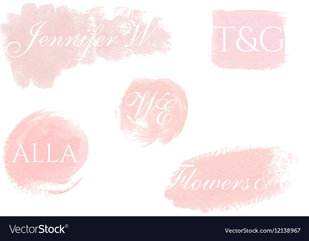 Hand painted design elements for logo vector image