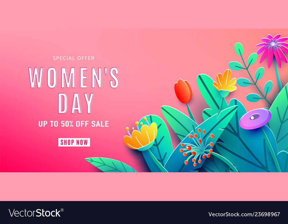 International womens day sale background