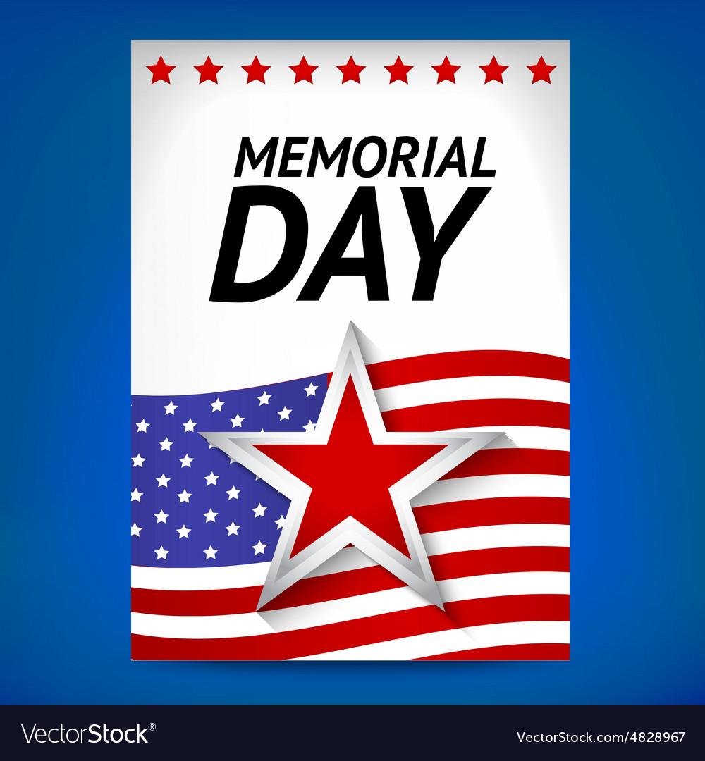 memorial day poster royalty free vector image vectorstock