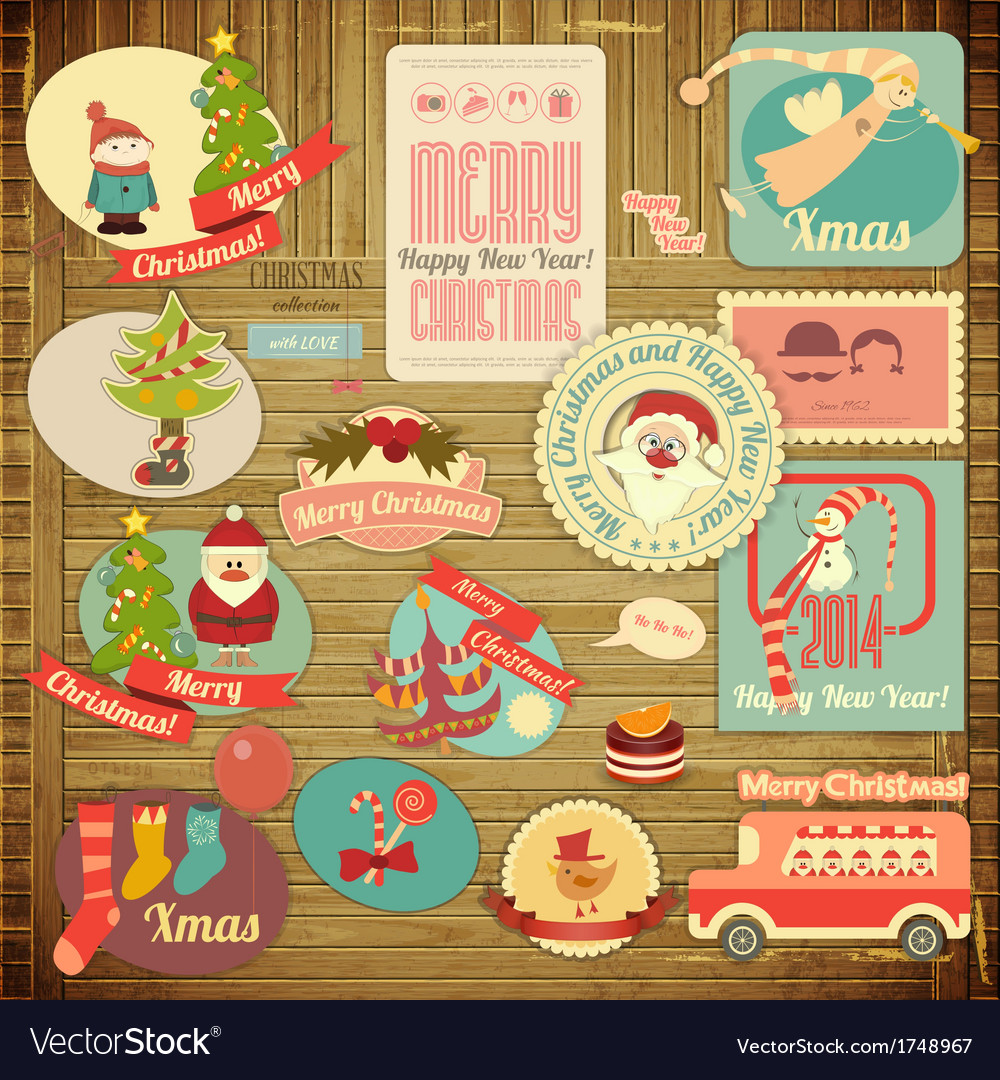 Merry Christmas Label Set