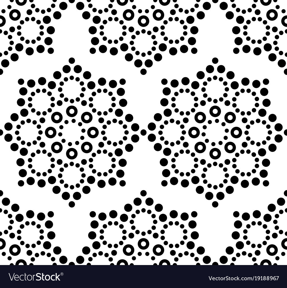 Seamless pattern aboriginal dot painting