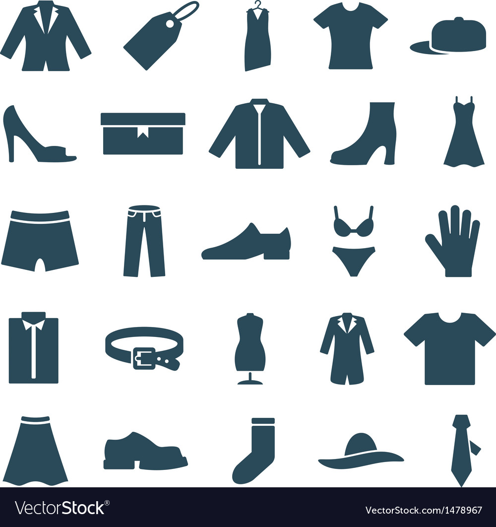 Set icons clothes and accessories