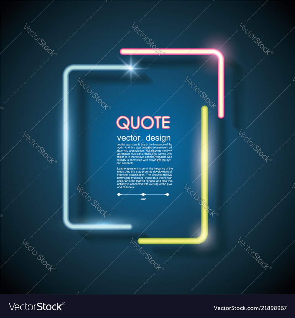 Set Neon Chat Bubbles Or Quote Frames Lighting