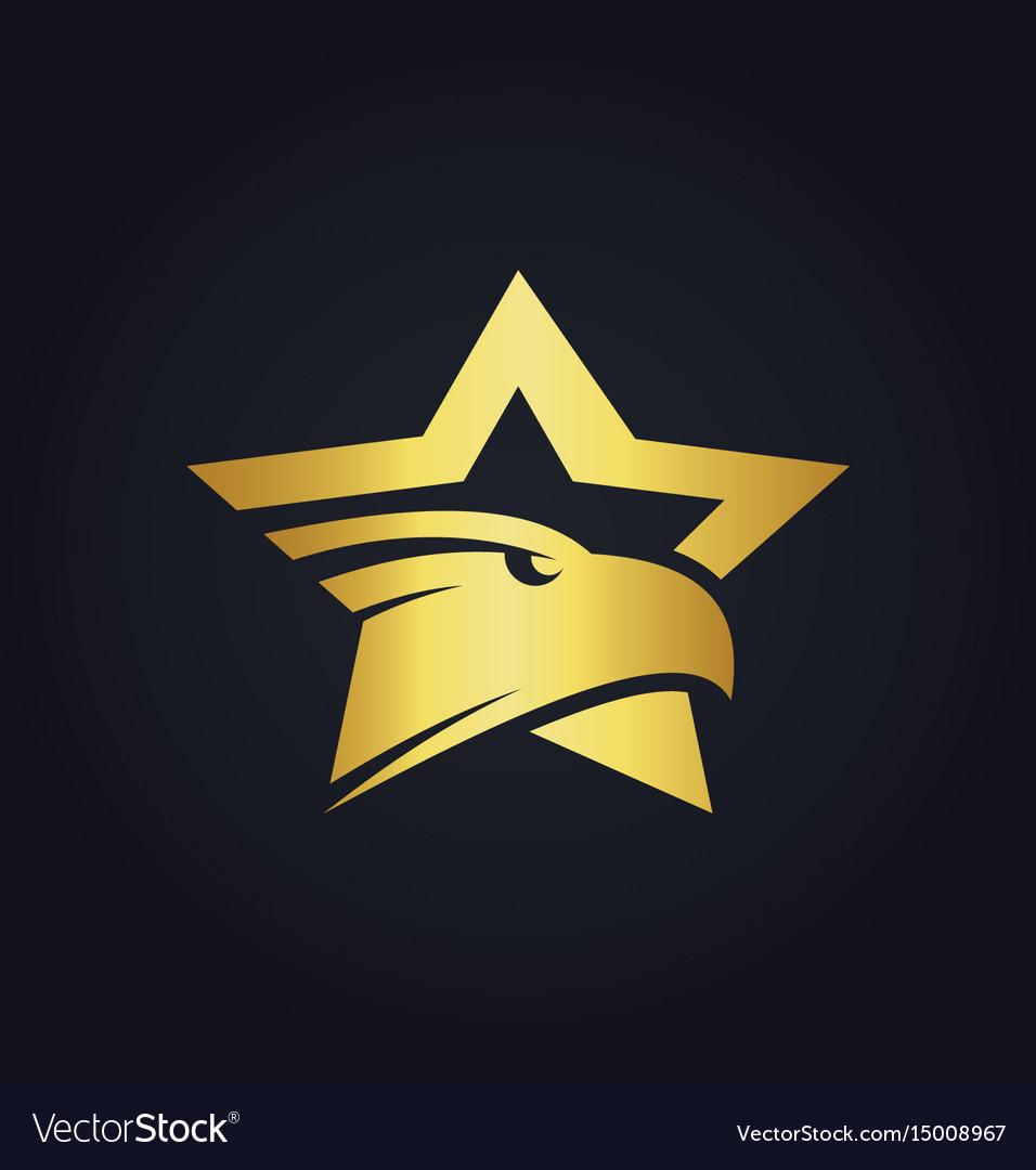 Star eagle gold logo