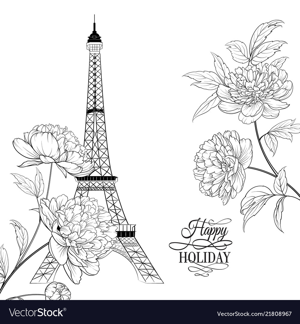 graphic about Eiffel Tower Template Printable called Wedding ceremony invitation card template eiffel tower