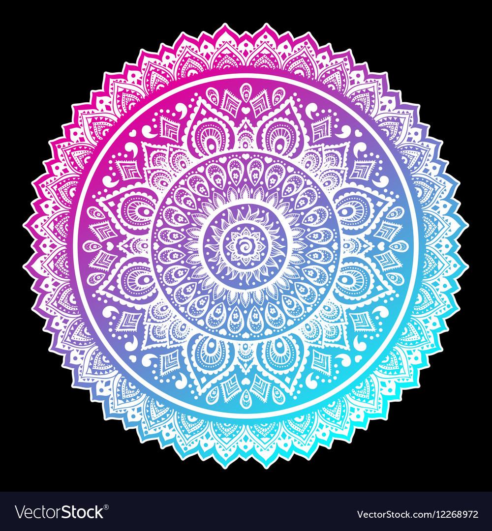 Bohemian Indian Mandala towel print Vintage Henna