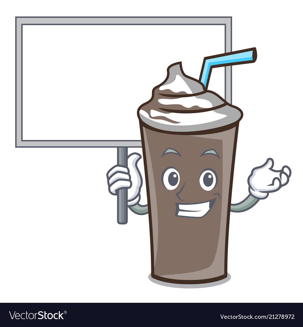 Bring board ice chocolate character cartoon
