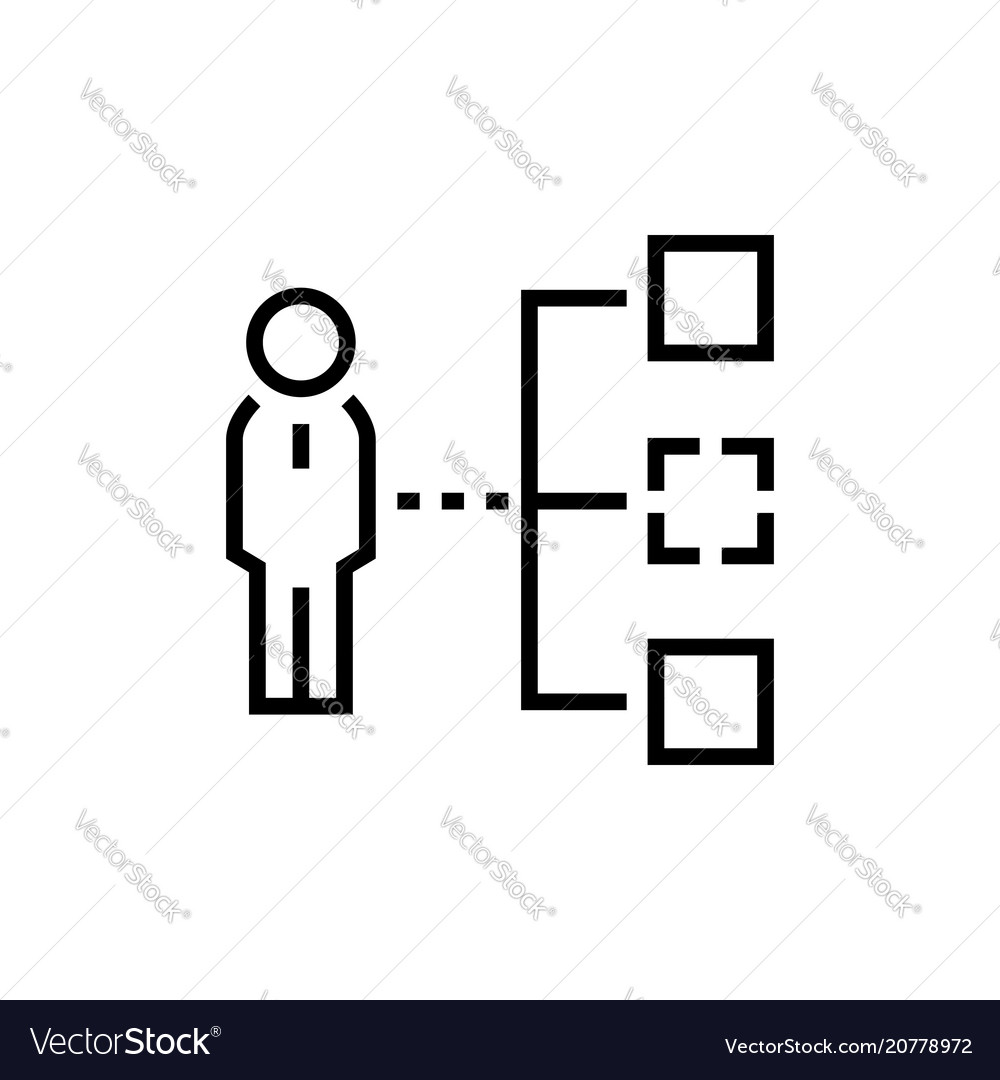 Business hierarchy - line design single isolated vector image