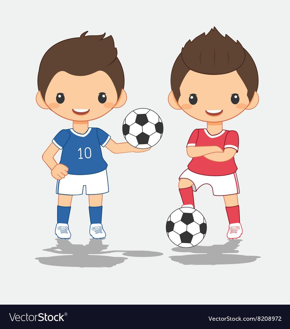 Cartoon of soccer player