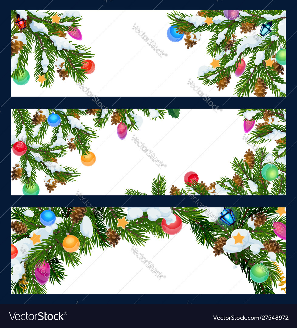 Christmas new year winter holiday blank banners