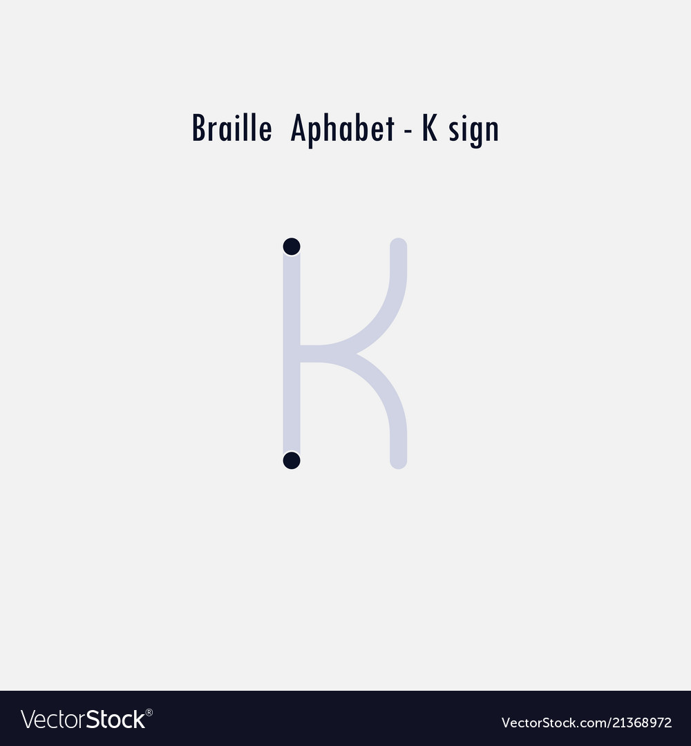 Creative english version of braille alphabet