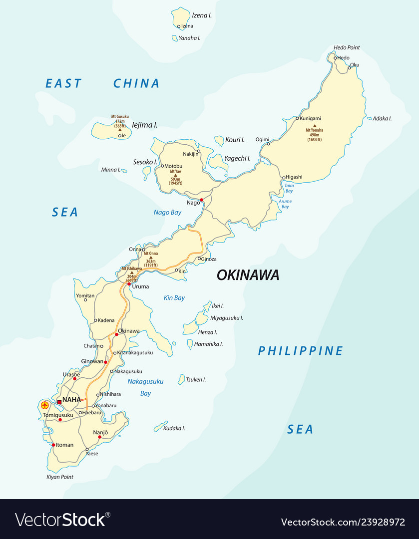 Detailed road map of japanese island