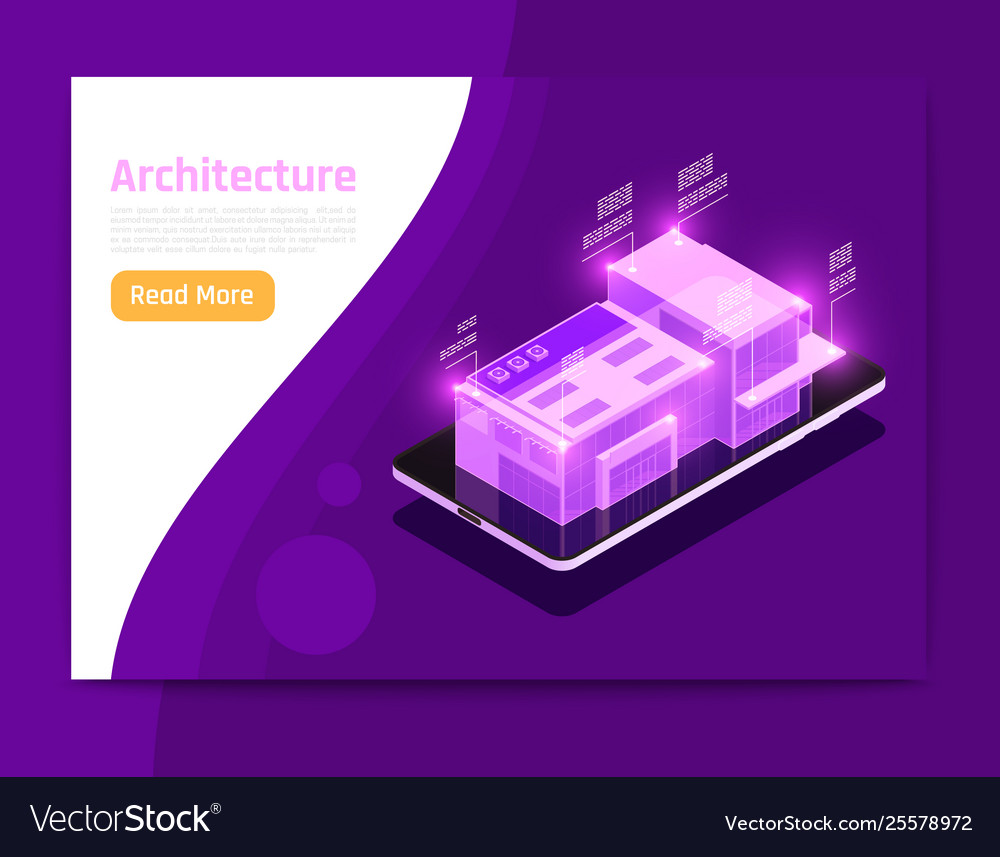 Isometric glow people and interfaces composition