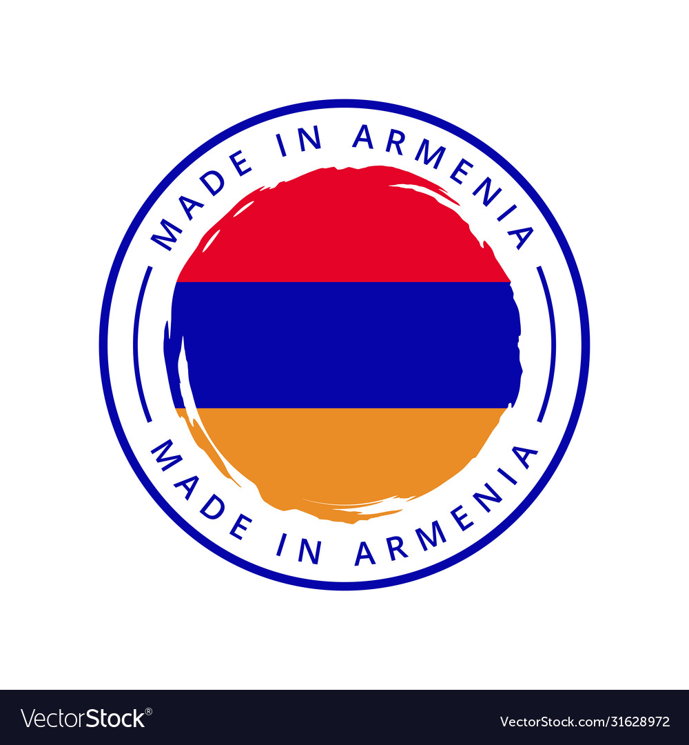 Made in armenia round label